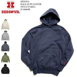 HINOYA (ヒノヤ) ラグランプルオーバー スウェットパーカー H-0088PK|hinoya-ameyoko