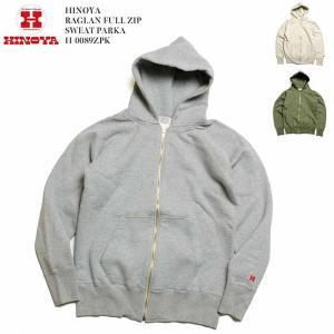 HINOYA (ヒノヤ) ラグランフルジップ スウェットパーカー H-0089ZPK|hinoya-ameyoko