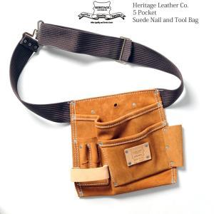 Heritage Leather Co. (ヘリテージ レザー)  5ポケット スウェード ネイル&ツールバッグ HL-495|hinoya-ameyoko
