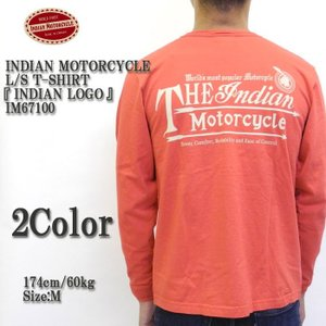 INDIAN MOTORCYCLE(インディアンモーターサイクル) L/S T-SHIRT 『INDIAN LOGO』 IM67100|hinoya-ameyoko
