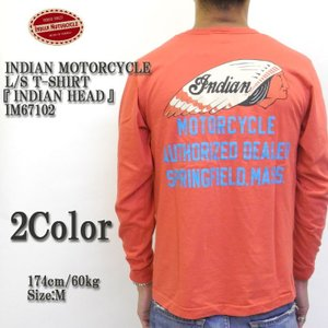 INDIAN MOTORCYCLE(インディアンモーターサイクル) L/S T-SHIRT 『INDIAN HEAD』 IM67102|hinoya-ameyoko