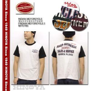 INDIAN MOTORCYCLE(インディアンモーターサイクル) セットイン2トーンTシャツ 『INDIAN MOTORCYCLE』 IM75785|hinoya-ameyoko