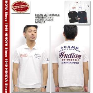 INDIAN MOTORCYCLE(インディアンモーターサイクル) 半袖刺繍ポロシャツ 『INDIAN LOGO』 IM76211|hinoya-ameyoko