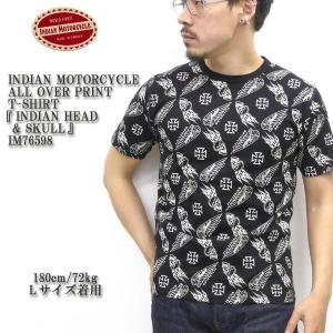 INDIAN MOTORCYCLE(インディアンモーターサイクル) ALL OVER PRINT T-SHIRT 『INDIAN HEAD & SKULL』 IM76598|hinoya-ameyoko