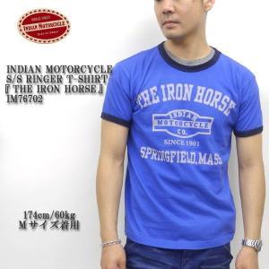 INDIAN MOTORCYCLE(インディアンモーターサイクル) S/S RINGER T-SHIRT 『THE IRON HORSE』 IM76702|hinoya-ameyoko
