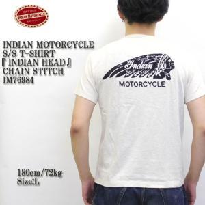 INDIAN MOTORCYCLE(インディアンモーターサイクル) S/S T-SHIRT 『INDIAN HEAD』 CHAIN STITCH IM76984|hinoya-ameyoko
