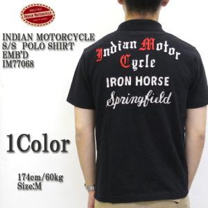 INDIAN MOTORCYCLE(インディアンモーターサイクル) S/S  POLO SHIRT EMB'D IM77068|hinoya-ameyoko