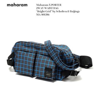 "Maharam X PORTER  (マハラム) 2WAY WAIST BAG ""Bright Grid"" by Scholten & Baijings MA-801386