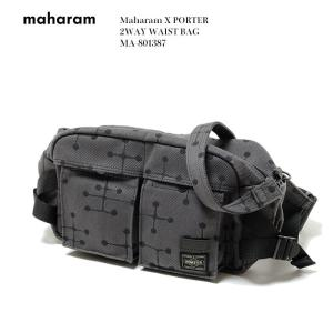"Maharam X PORTER  (マハラム) 2WAY WAIST BAG ""Small Dot Pattern"" by Charles and Ray Eames MA-801387