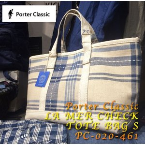 Porter Classic  (ポータークラシック) LA MER CHECK TOTE BAG S PC-020-461|hinoya-ameyoko