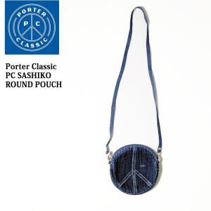 Porter Classic  (ポータークラシック) PC SASHIKO ROUND POUCH PC-032-706 hinoya-ameyoko