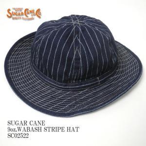 SUGARCANE(シュガーケーン) 9オンス ウォバッシュストライプ ハット SC02522|hinoya-ameyoko