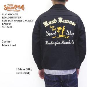 SUGARCANE(シュガーケーン) ROAD RUNNER COTTON SPORT JACKET  EMB'D SC13222|hinoya-ameyoko
