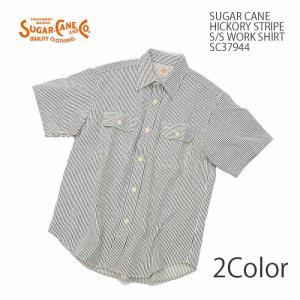 SUGARCANE(シュガーケーン) ヒッコリーストライプ 半袖 ワークシャツ SC37944|hinoya-ameyoko
