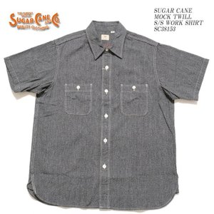 SUGARCANE(シュガーケーン) 杢ツイル 半袖ワークシャツ SC38153 hinoya-ameyoko
