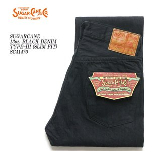 SUGARCANE(シュガーケーン) 13oz. BLACK DENIM TYPE-III (SLIM FIT) SC41470|hinoya-ameyoko