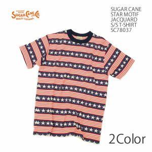 SUGARCANE(シュガーケーン) スター モチーフ ジャガード 半袖Tシャツ SC78037 hinoya-ameyoko