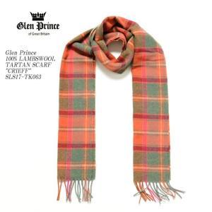 GLEN PRINCE (グレンプリンス) 100%ラムズウール タータンスカーフ