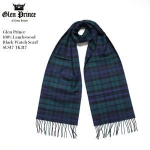 GLEN PRINCE (グレンプリンス) 100%ラムウール ブラックウォッチ スカーフ SLS17-TK317|hinoya-ameyoko
