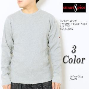 SMART SPICE(スマートスパイス) サーマル クルーネック ロンT SMC0106CR|hinoya-ameyoko