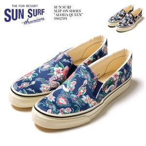 "SUN SURF(サンサーフ) スリッポンシューズ ""ALOHA QUEEN""  SS02591 hinoya-ameyoko"