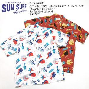 SUN SURF(サンサーフ) 半袖コットンシアサッカーオープンシャツ