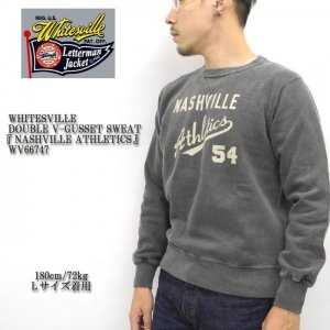WHITESVILLE (ホワイツビル)  DOUBLE V-GUSSET SWEAT 『NASHVILLE ATHLETICS』 WV66747|hinoya-ameyoko