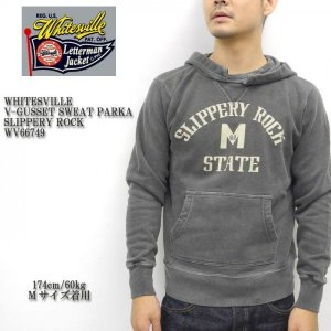 WHITESVILLE (ホワイツビル)  V-GUSSET SWEAT PARKA SLIPPERY ROCK WV66749|hinoya-ameyoko