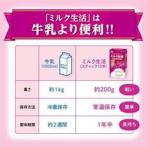 森永乳業 大人のための粉ミルク ミルク生活プラス スティック (20g×10本) hinoya 03