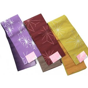 半巾帯 小袋帯 両面細帯 麻の葉柄 ゆかた帯|hinoyajp2000