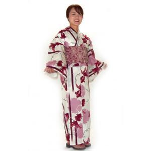 上質な変り織り生地に伝統柄のワンランク上のこだわり浴衣です。 浴衣のみの価格です。 ●さらりとした紅...