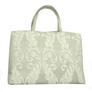 和装用バッグ  西陣帯地 トートバッグ 華千年 薄緑 着物バッグ|hinoyajp2000
