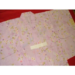 子供浴衣 さくら桃紫130 9・10才用 (送料無料)|hinoyajp2000