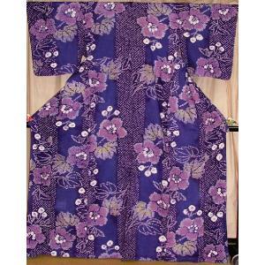 目玉商品 絞り浴衣 仕立て上がり プレタ紫|hinoyajp2000