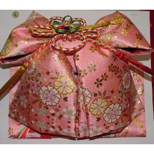 七五三 七才用結び帯 大寸 ピンク時金襴 桜 (送料無料)|hinoyajp2000