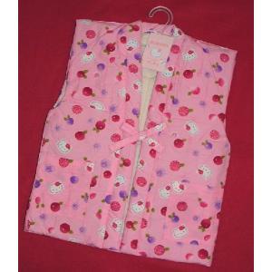 ハローキティー 子供用ポンチョ 袖なしはんてん 女の子用ピンク菊 100〜130サイズ hinoyajp2000