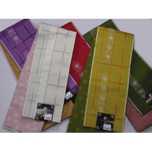 半巾帯 小袋帯 両面長尺細帯 麻柄|hinoyajp2000