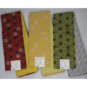 半巾帯 小袋帯 両面長尺細帯 麻の葉柄|hinoyajp2000