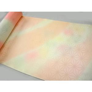 正絹 振袖用長襦袢 反物18m 振り濃ピンク麻柄|hinoyajp2000