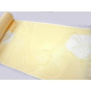 正絹 振袖用長襦袢 反物18m 薄黄絞り 反物巾38cm|hinoyajp2000