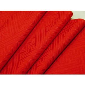 着物のはぎれ 綸子鞘型赤26-5 ポリエステル 切り売りします(50cm単位)