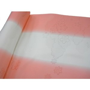 正絹 振袖用長襦袢 反物18m 振りぼかし ピンク-1 38cm巾|hinoyajp2000