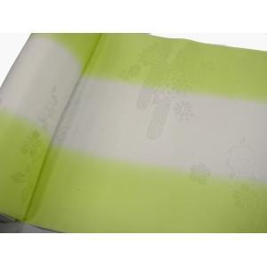 正絹 振袖用長襦袢 反物18m 振りぼかし 緑-1 38cm巾|hinoyajp2000