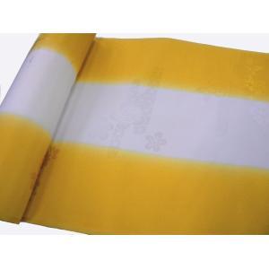 正絹 振袖用長襦袢 反物18m 振りぼかし 金茶-1 38cm巾|hinoyajp2000