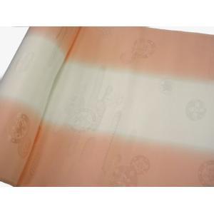 正絹 振袖用長襦袢 反物18m 振りぼかし ピンク-2 38cm巾|hinoyajp2000