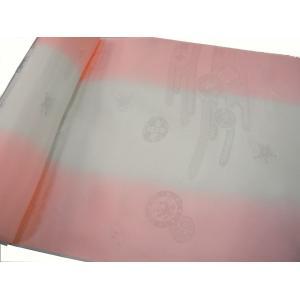 正絹 振袖用長襦袢 反物18m 振りぼかし ピンク-3 38cm巾 hinoyajp2000