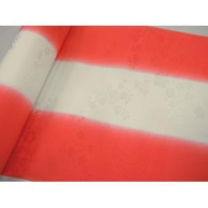 正絹 振袖用長襦袢 反物18m 振りぼかし 赤-2 38cm巾|hinoyajp2000