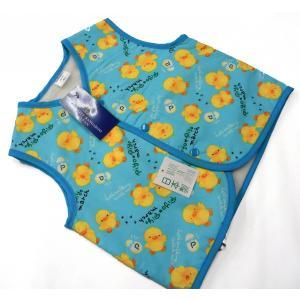 子供ポンチョ お子様用 袖なしはんてん 80・90サイズ ブルーひよこ hinoyajp2000