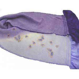 振袖用 総絞り帯揚 染め分け四つ巻絞り 紫蝶々|hinoyajp2000
