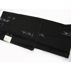 洗える着物 絽 夏物単衣仕立て 小紋柄黒地撫子柄 プレタ着物 M/Lサイズ hinoyajp2000